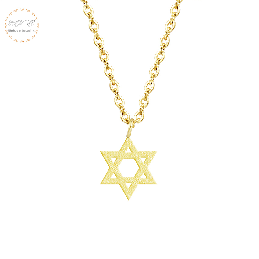 Jewish Jewelry Gold Simple Hexagram Necklace Pendant For Women Stainless  Steel Chain Israel Emblem Talisman Seal of Solomon Sign-in Pendant  Necklaces from ... 86215f27fe5c