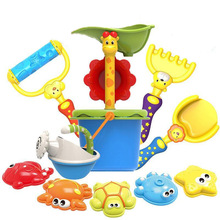 SLPF Children Beach Toys Baby Dredging Tools Hourglass Shovel Shower Mold For Sand Set Giochi Spiaggia Bambino Kids Party NewG13