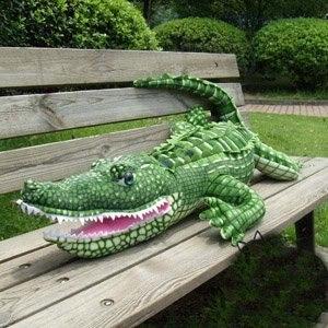 Peluche en peluche douce en peluche jouet en forme de serpent crocodile en peluche approvisionnement d'usine livraison gratuite