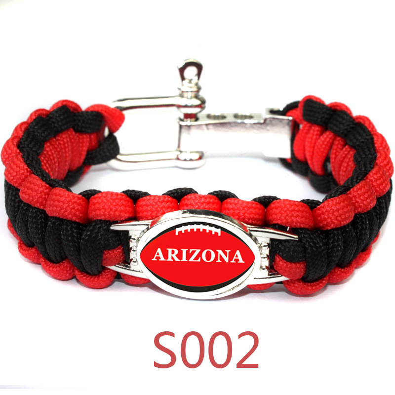 Football Metal Buckle Umbrella Braided Bracelet America Sport Team Arizona Cardinals Jewelry Camping Bracelet Fans Gift