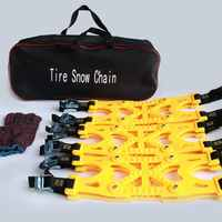 6pcs Car Tire Anti-skid Chain Car Snow Road Tire Anti-Skid Chain Universal Non-slip Chain Winter Thick Chain