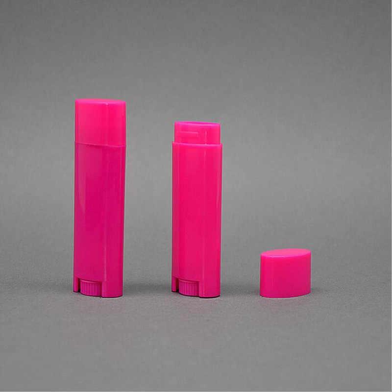 100pcs/lot Oval Lip Balm Tube 4 5g Transparent White Purple Blue Orange  0 15oz Deodorant Container Lotion Bar