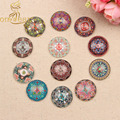 Mixed Round Dome Mandala Pattern Glass Cabochon 10mm 12mm 14mm 18mm 20mm 25mm diy flatback handmade Jewelry findings