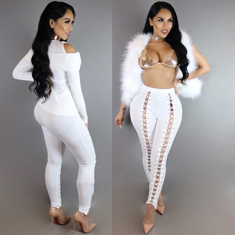 458ce9d2d843b ... Black Hollow Out Leggings Women 2018 Spring Autumn Full Length Pencil  Pants Sexy Fitness Lace Up ...
