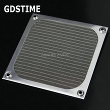 1PCS Gdstime 120mm Aluminum Dustproof Dust Filter Grill Mesh Guard For PC CASE CPU Fan 120mm metal fan dustproof filter stainless mesh for pc cpu computer chassis 12cm fan dustproof