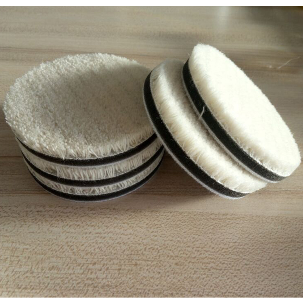 цена на 80mm Wool polising Pad Buffing Pad 5pcs For Car Or Glass Polisher