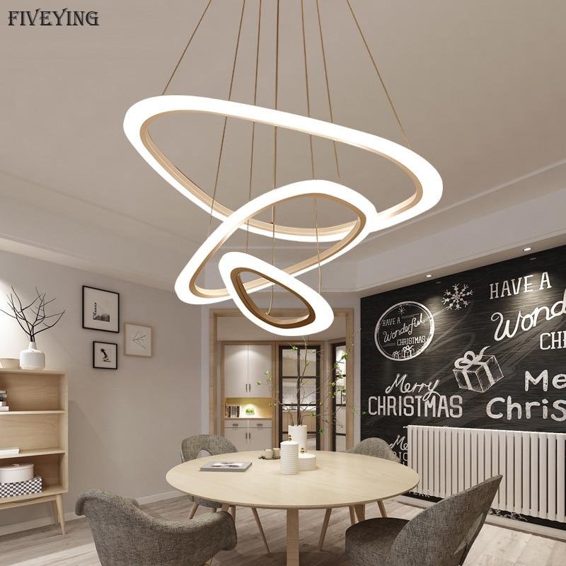 Eetkamer Van Chris.Fiveying Moderne Eenvoudige Hanglamp 3 2 1 Witte Cirkel Ringen