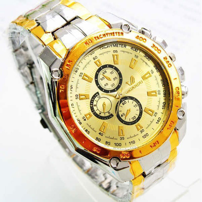 Nuevo lujo relojes para hombres de aleación Correa relojes mecánicos reloj deportivo con cierre de acero inoxidable reloj de pulsera
