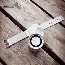 2016 cadeau Enmex conception spéciale montre-bracelet creative cadran en cuir simple mode pour jeune argent couleur quartz montres