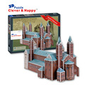 2014 new clever&happy land  3d puzzle model Speyer Cathedral large adult puzzle paper diy for boy paper