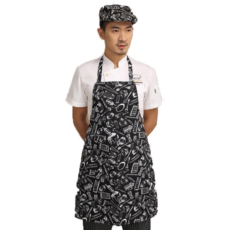 ≧Moda cocina delantal de algodón restaurante delantal de trabajo ...