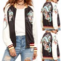 2017 fashion print bomber jacket women basic coats dragon tiger Outerwear Trendy ladies baseball Jacket women chaquetas mujer