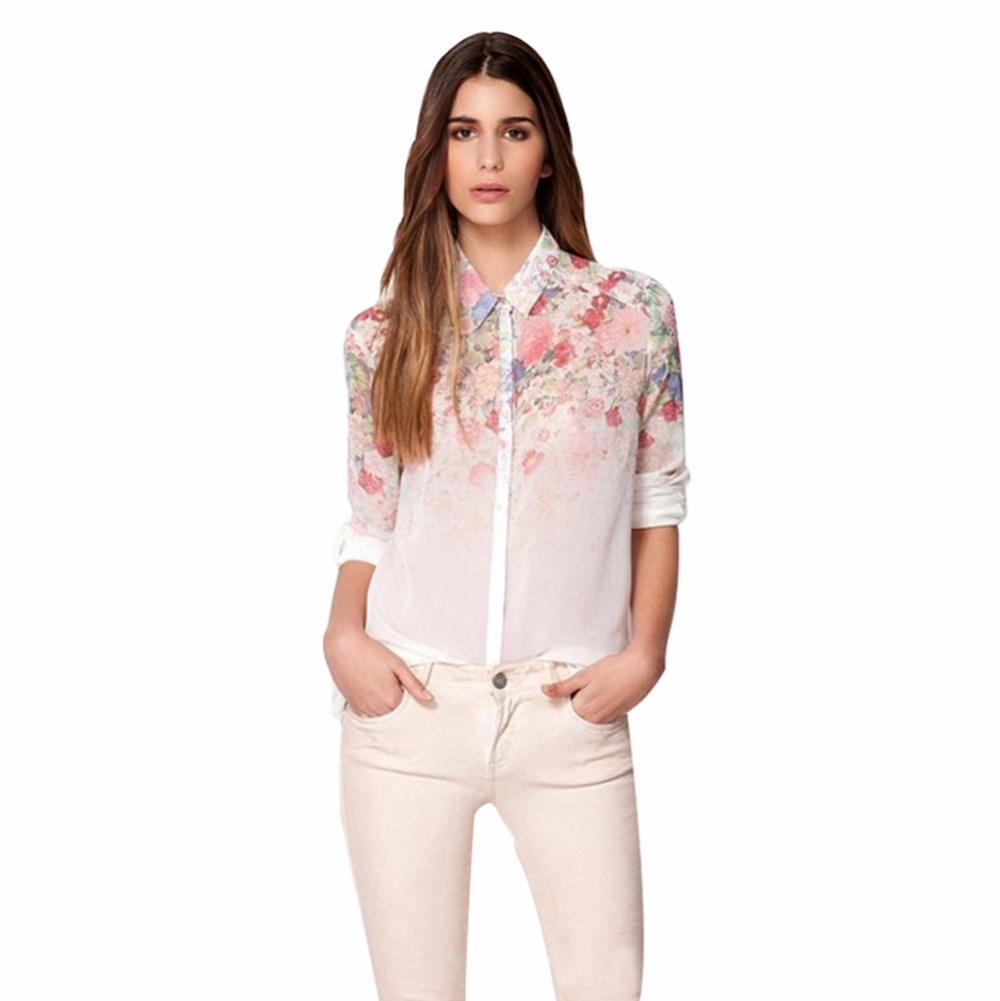 online get cheap s career aliexpress com alibaba group hot s women casual shirt floral style chiffon blouse tops lapel career shirt tq