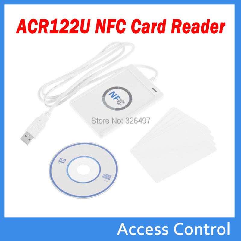 US $32 98 |ACR122u USB NFC Reader 13 56Mhz Rfid Reader Writer+5 Pcs RFID  Card Support Android Linux Mac Windows-in Control Card Readers from  Security