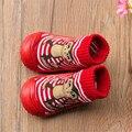 Calcetines de los niños inferiores suaves de goma antideslizante calcetines del piso inferior del bebé afortunado mono, niña, niño recién nacido bebé zapatos SWS932