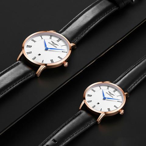 Casal de Luxo Marca de Topo Relógio de Quartzo Novo Relógio Guanqin Calendário Hardlex Impermeável Moda Casual Simples Bayan Kol Saati 2020