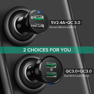 Image 2 - Ugreen Car Charger Quick Charge 3.0 USB Fast Charger for Xiaomi mi 9 iPhone X Xr 8 Huawei Samsung S9 S8 QC 3.0 USB Car Charger