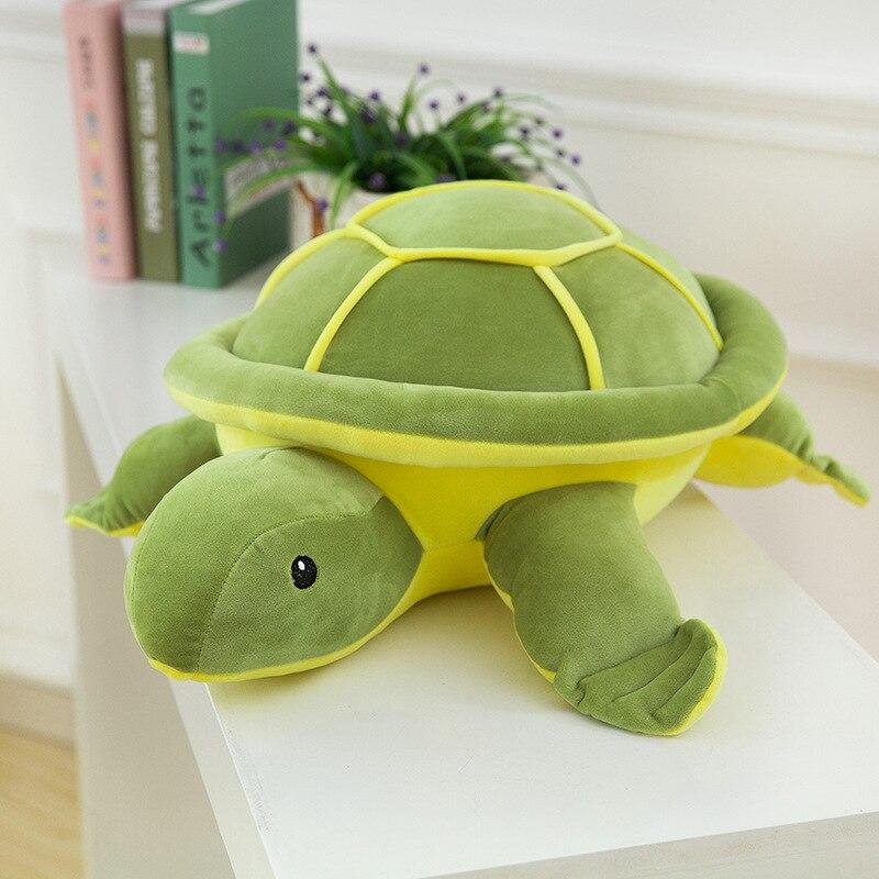 Kawaii Плюшевые игрушки черепахи для детей милый черепаха плюшевые Подушки Детские укомплектованы Подушки для Обувь для девочек День подарко...