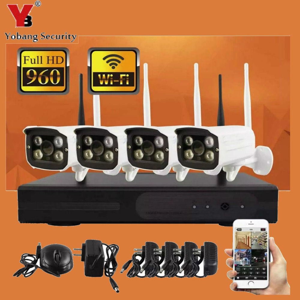 YobangSecurity 4CH Wireless 960P NVR 4PCS 1.3MP IR Outdoor P2P Wifi IP CCTV Security Camera System Video Surveillance Camera KITYobangSecurity 4CH Wireless 960P NVR 4PCS 1.3MP IR Outdoor P2P Wifi IP CCTV Security Camera System Video Surveillance Camera KIT