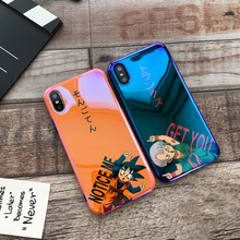 Blue light GOKU soft DHL case for iphone X XS MAX XR 8 7 6 6S plus silicon phone cover Japan Cartoon Dragon Ball coque fundas