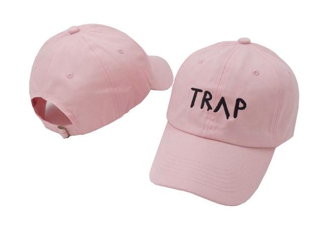 03bbf700a17 Pure Cotton TRAP Hat Pink Pretty Girls Like Baseball Cap Trap Music 2  Chainz Album Rap