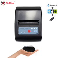 58mm Mini Bluetooth Printer Thermal Printer Pocket printer portable ticket printer for Android / iOS Pocket Printer POS ESC/POS