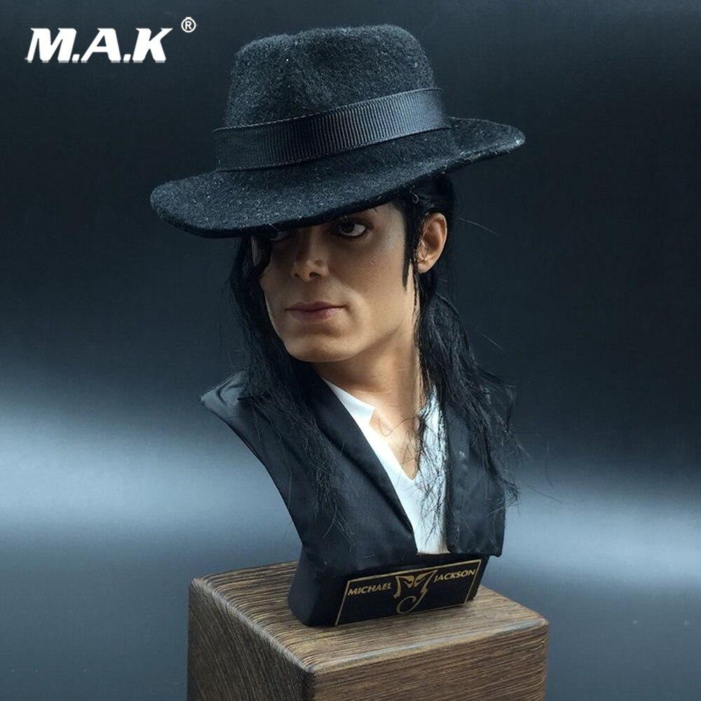 34 cm Pissenlit Michael Jackson Mâle Buste Statue 1/3 Échelle Affichage Jouet Avec Socle En Bois Collections