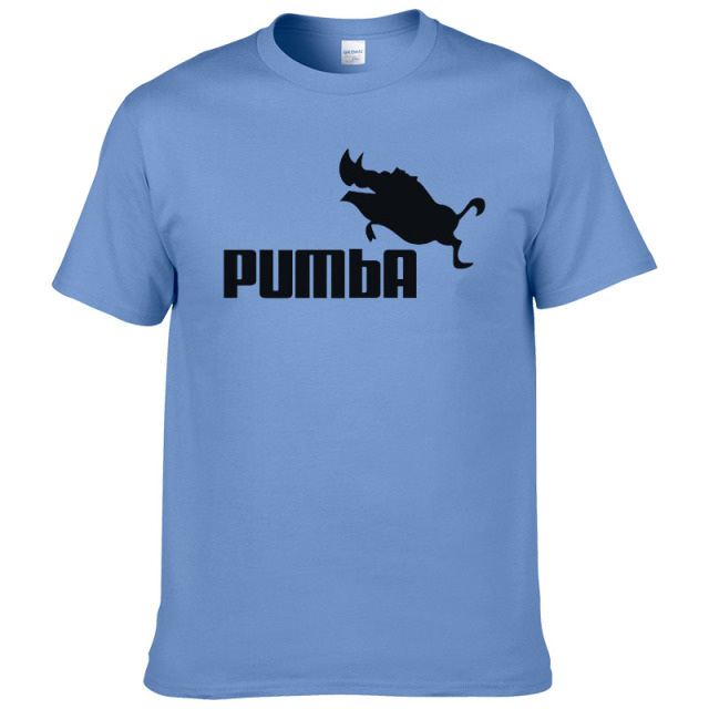 2016 funny tee cute t shirts homme Pumba men short sleeves cotton tops cool tshirt summer jersey costume t-shirt #062 4