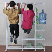 Simple wardrobe oxford cloth steel pipe reinforcement bold double folding assembly closet closing Naboo