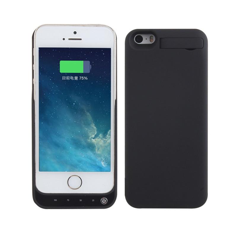 imágenes para 4200 mah batttery case de carga para apple iphone 5 5s banco de la energía del cargador de batería externa recargable para el iphone 5 5s