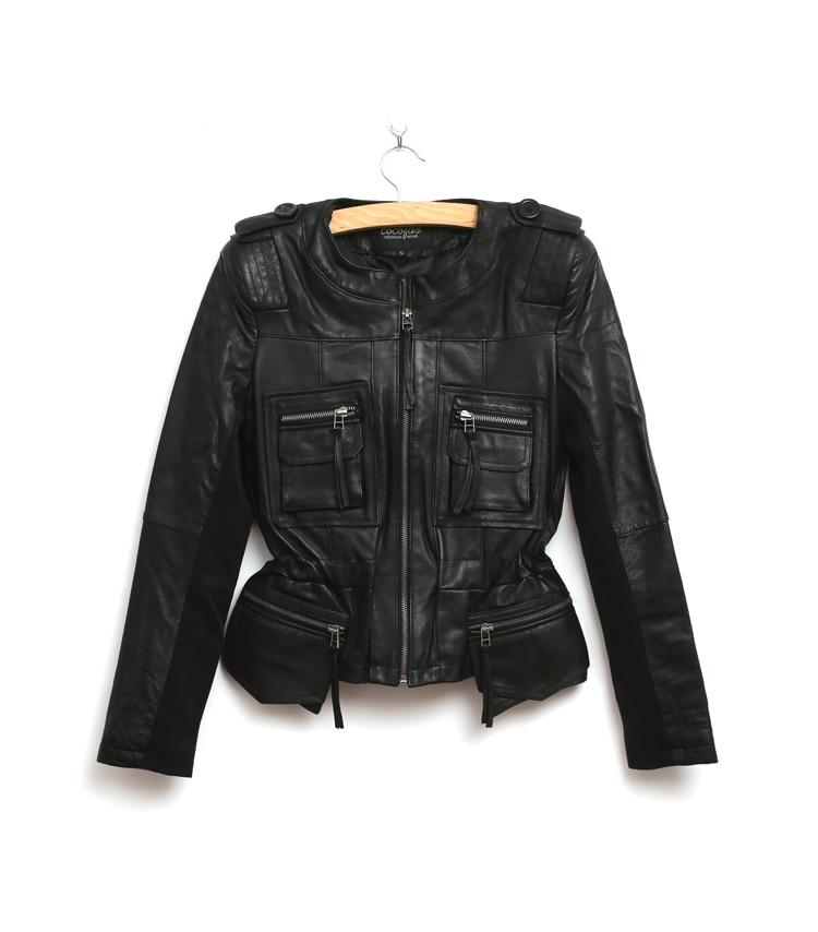 Livraison Biker Femmes Moto Black Veste De Manteaux Dhl Cuir Jaquetas short Mince Couro Court Femininas Long En Vestes Black rHqrU76