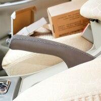 LS АВТО Топ натуральная кожа чехол для ручной тормоз для Toyota corolla Китай ручной тормоз крышка верхний слой кожи ручной тормоз крышки