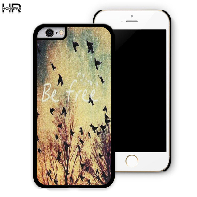 Be Free Birds Cute Quote Retro Vintage Best Brand Cell Mobile Phone Cases  Cover For IPhone