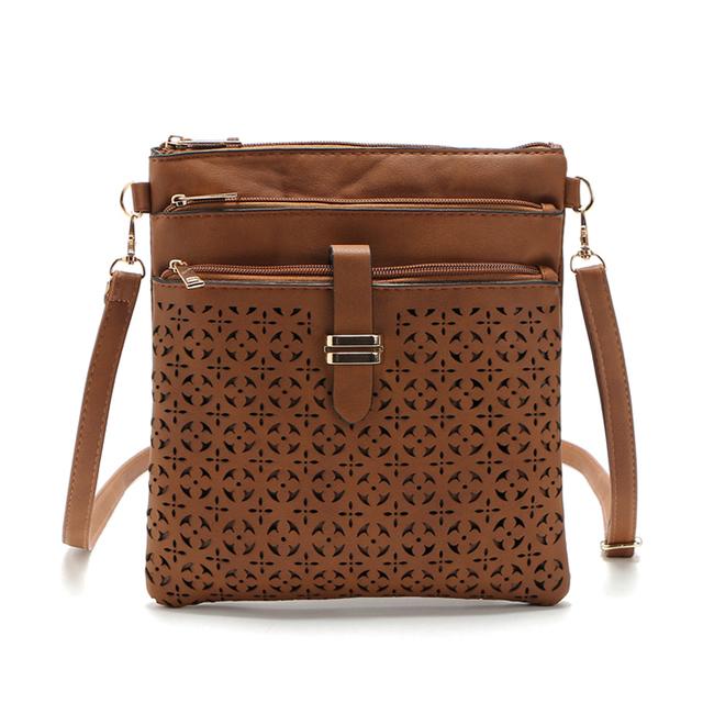 2016 Fashion Small Bag Women Messenger Bags Soft PU Leather Hollow Out Crossbody Bag For Women Clutches Bolsas Femininas Bolsa