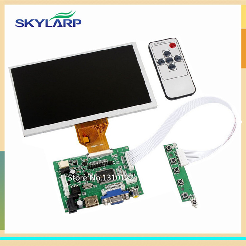 skylarpu 7 inch Raspberry Pi LCD Screen TFT Monitor for AT070TN90 with HDMI VGA Input Driver Board Controller (without touch) finesource 7 1280 x 800 digital tft lcd screen driver board for banana pi raspberry pi black