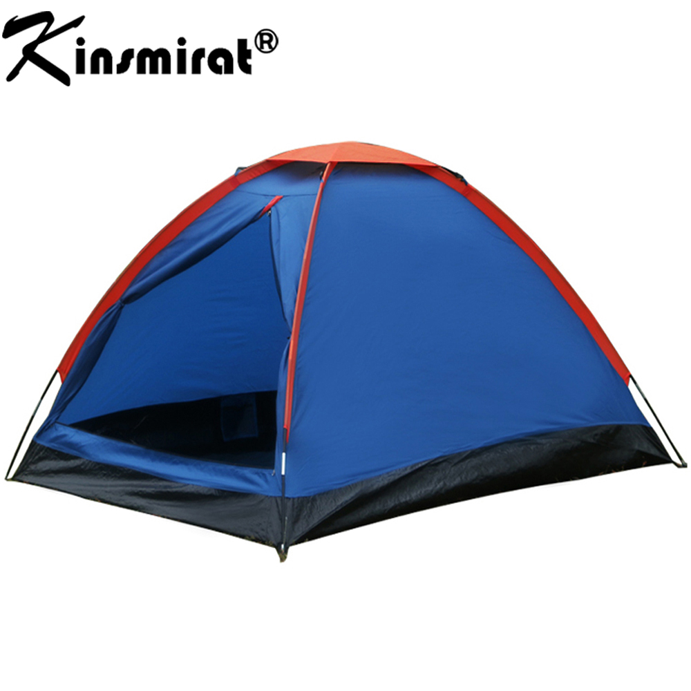 Camping Tent 2 Person For Hiking Trekking Backpacking Fishing Three-Season Tent Polyester PU Coating Tourist Tent