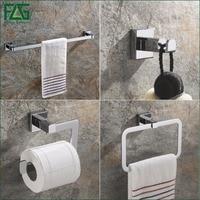 FLG All copper Chrome Bathroom Accessories Set Single Towel Bar, Robe Hook, Paper Holder Bath Hardware Sets,Russian Style 825 4
