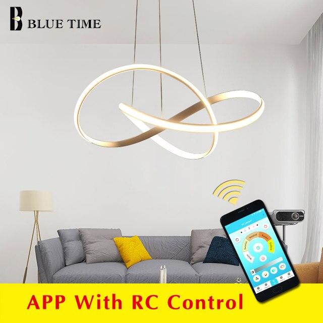 Golden&White&Black Finished Modern LED Chandeliers For Living Room Dining Room Kitchen Bedroom Home LED Chandeliers AC 110V 220V
