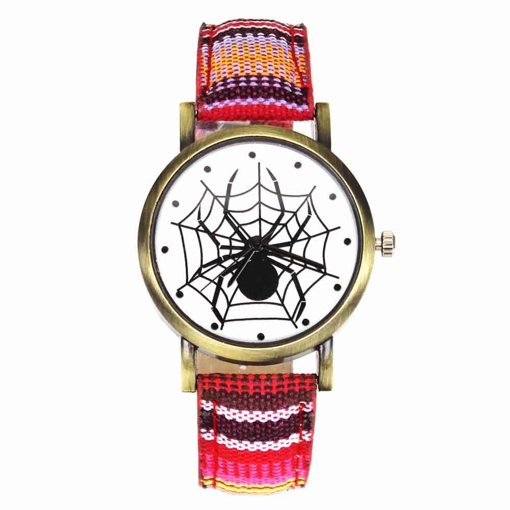 무서운 블랙 스파이더 웹 곤충 디자인 시계 남성 - 남성 시계 - 사진 6