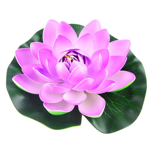Colorful 18cm Water Lilies Artificial flower Pond Plants EVA Real Touch Flower for Home wedding Party Decoration