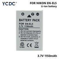 1/2 piezas EN-EL5 ENEL5 es EL5 3,7 V 1150 mAh Li-Ion batería de la cámara para Nikon Coolpix 3700, 4200, 5200, 5900 7900 P3 P4 P500 P510