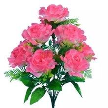 Моделирование горшках декоративный цветок бутон цветок Пион Роза Семья украшения бонсай День Святого Валентина подарок праздник