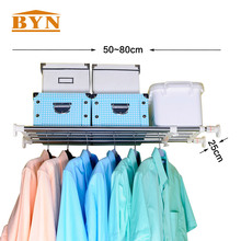 BYN 5 полюсов расширяемый стеллаж для хранения Организатор 50-80 см для Ванная комната шкаф Кухня Space Saver