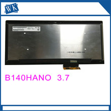 Free shipping! B140HAN03.7 Touch Panel Assembly Screen+Digitizer For HP