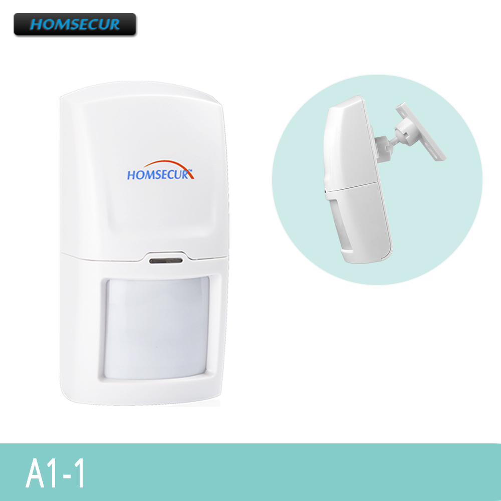 HOMSECUR 1Pcs Wireless Motion/PIR Sensor 433MHz A1-1 For Our Home Security Alarm System