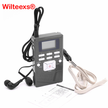 цена на WILTEEXS Portable Mini Frequency Modulation Digital LED Display FM Radio Receiver Signal Processing With Earphone