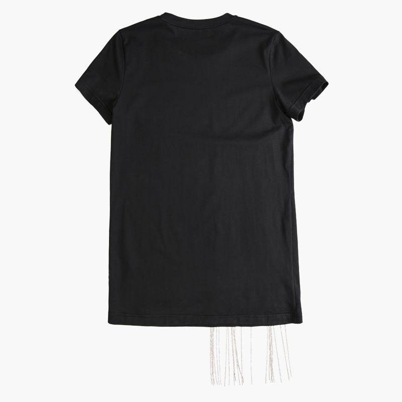 Top Shirt Schwarz Schwarz 2019 T Sommer Z zoux Brief Alle Diamant Frauen Tops Kette T Kurzarm Mode Auswahl Shirt FJ1cl3TK