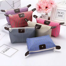 Striped Makeup Wash Storage Pencil Travel Pouch Cosmetic Bag Case Organizer Cosmetic Bags