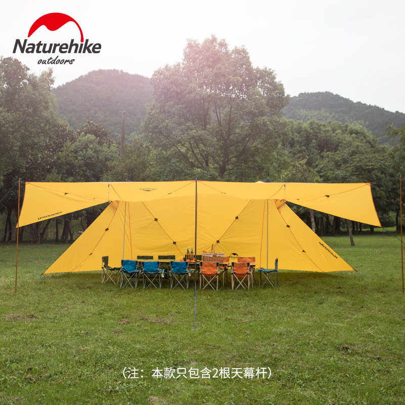 Naturehike Factory sell Outdoor super large 8 person rainproof sunshade canopy tower outdoor twin peaks camping tent awning naturehike factory sell outdoor mountaineering walking 3 in 1 poncho triad to groundsheet awning raincoat outdoor raincoat
