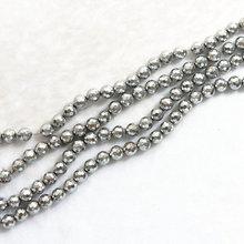 Горячее серебро цвет гематит камень 4 мм 6 8 10 12 Круглые граненые